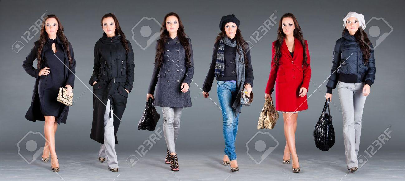 Mädchen In Andere Kleider, Herbst-Winter Kollektion Kleidung ...