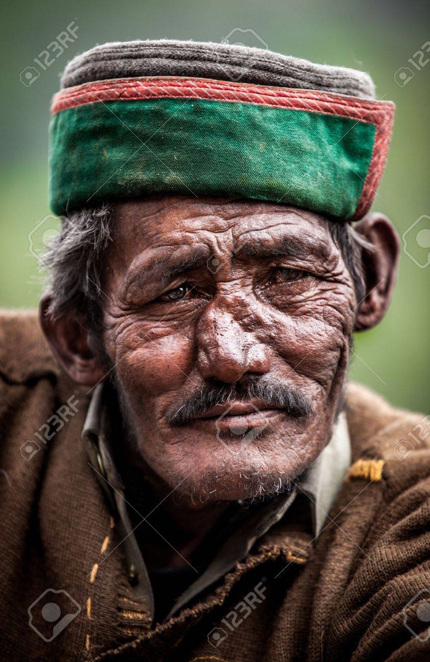 Portrait of an old man of Indian villages. Stock Photo - 14736645