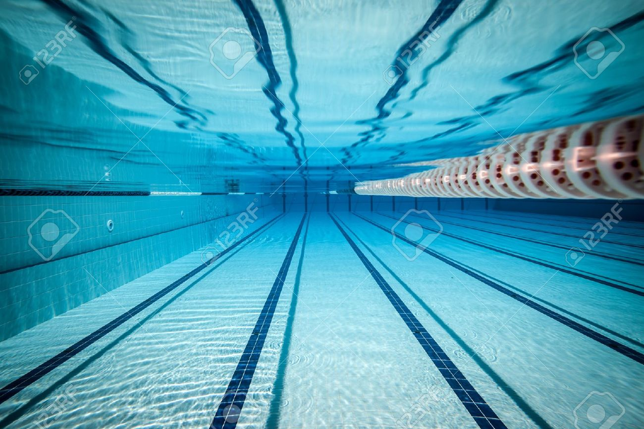 swimming pool lane lines background. Stock Photo - Swimming Pool Under Water . Lane Lines Background