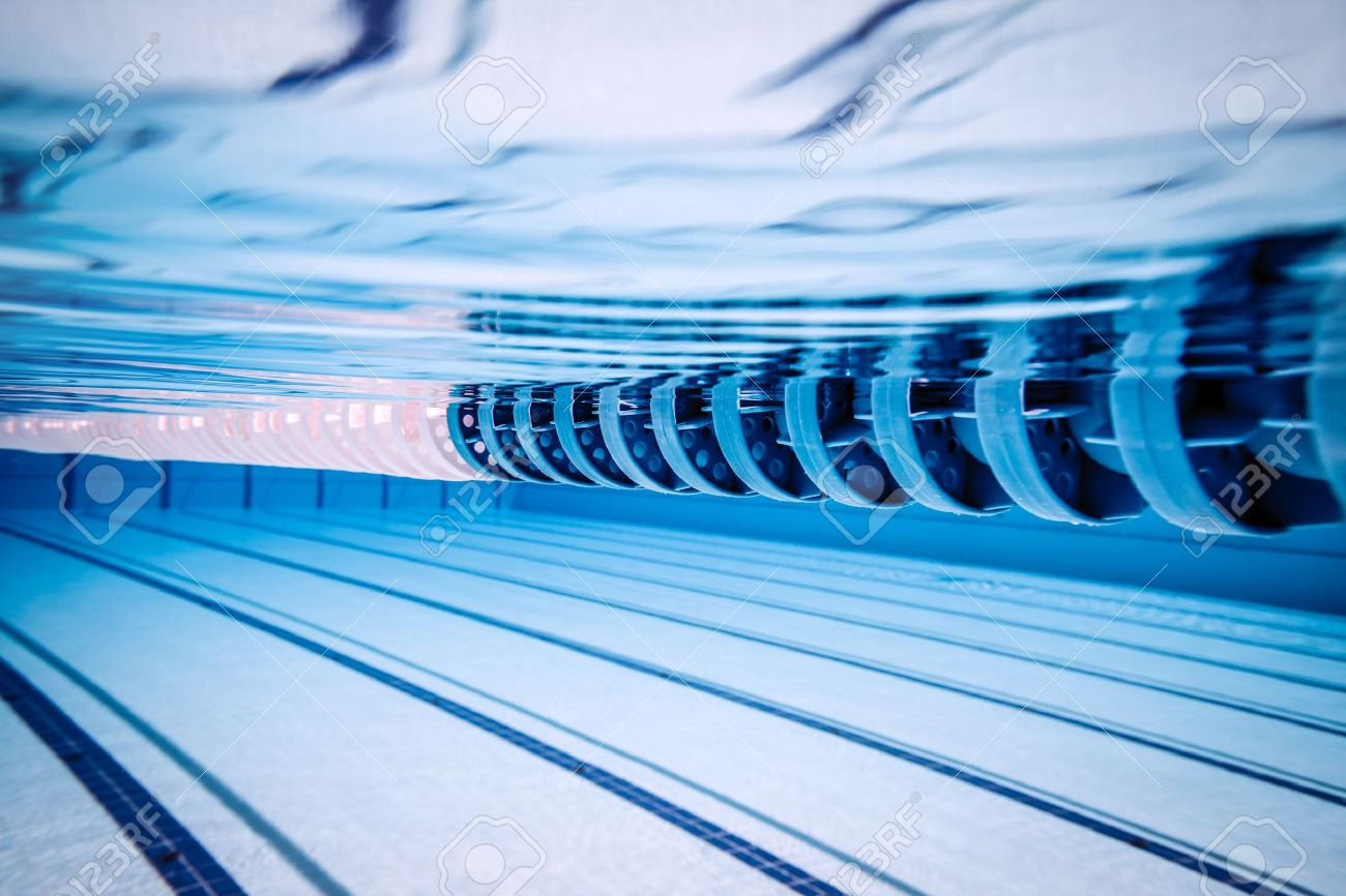 swimming pool under water stock photo 19684784