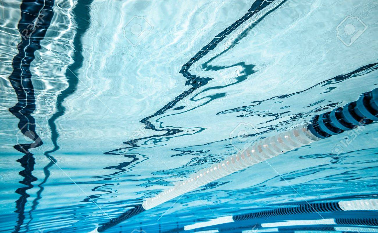 Swimming Pool Lane Lines Background swimming pool under water stock photo, picture and royalty free