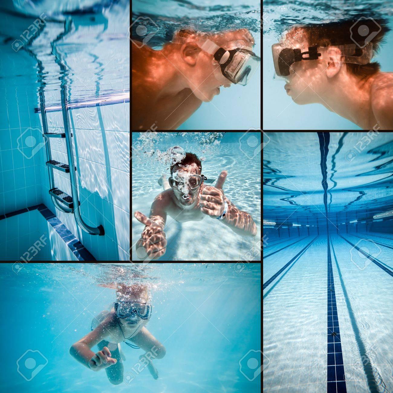 swimming pool under water Stock Photo - 19537185