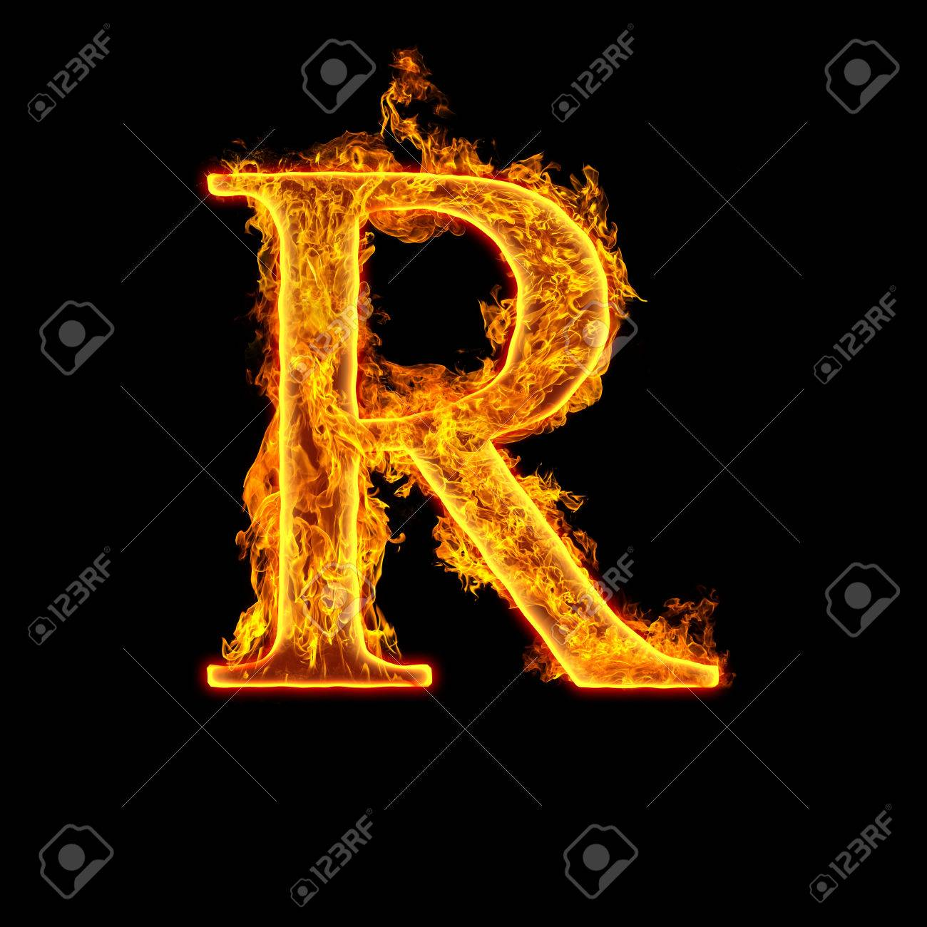 Fire Alphabet Letter R Isolated On Black Background Stock Photo Picture And Royalty Free Image Image 22914320