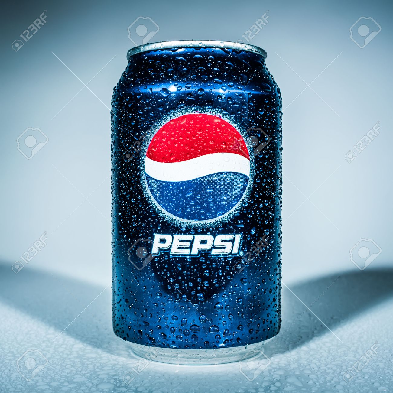 MOSCOW, RUSSIA-APRIL 4, 2014: Can of Pepsi cola  Pepsi is a carbonated