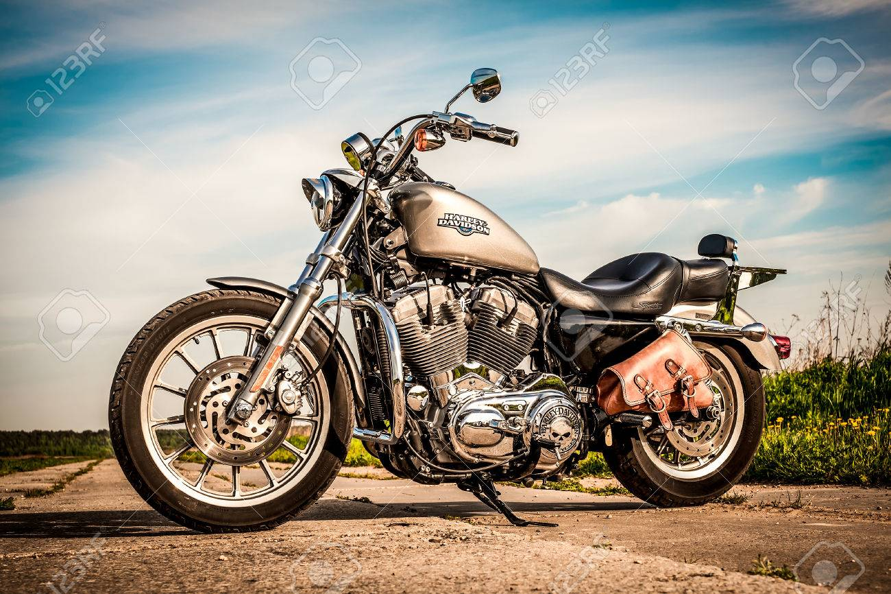 RUSSIA JULY 7 2013 Harley Davidson Sportster 883 Low