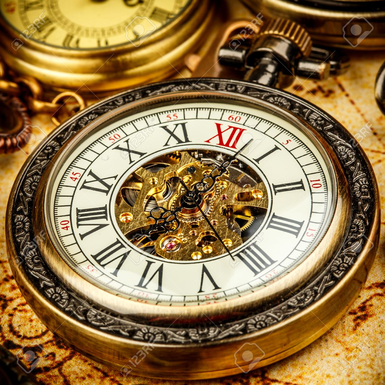 Vintage Antique Pocket Watch Stock Photo Picture And Royalty Free