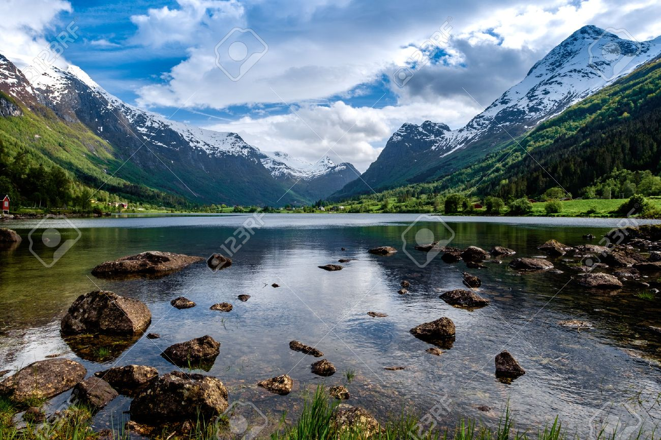 Beautiful Nature Norway natural landscape. Stock Photo - 43959970