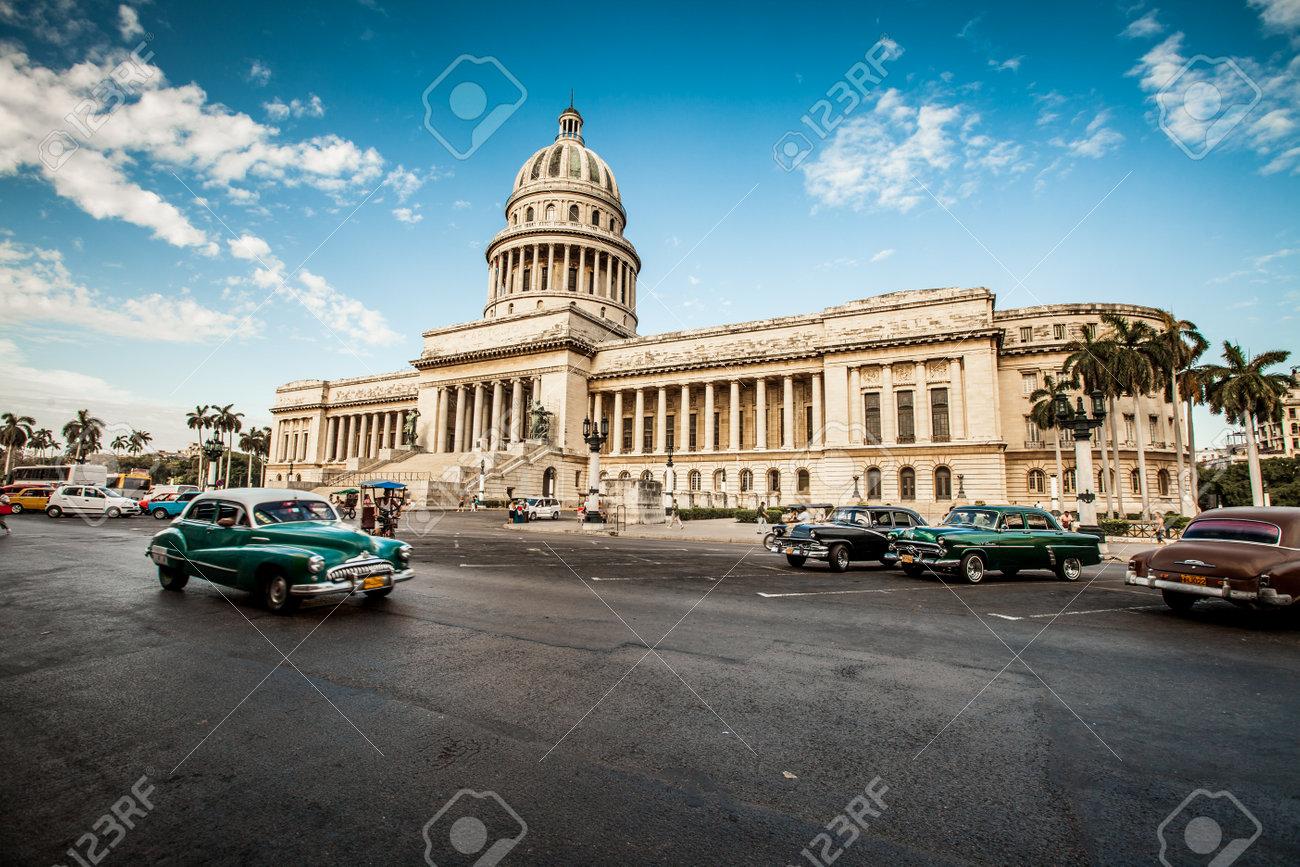 HAVANA, CUBA - JUNE 7, 2011: Old Classic American Car Rides In ...