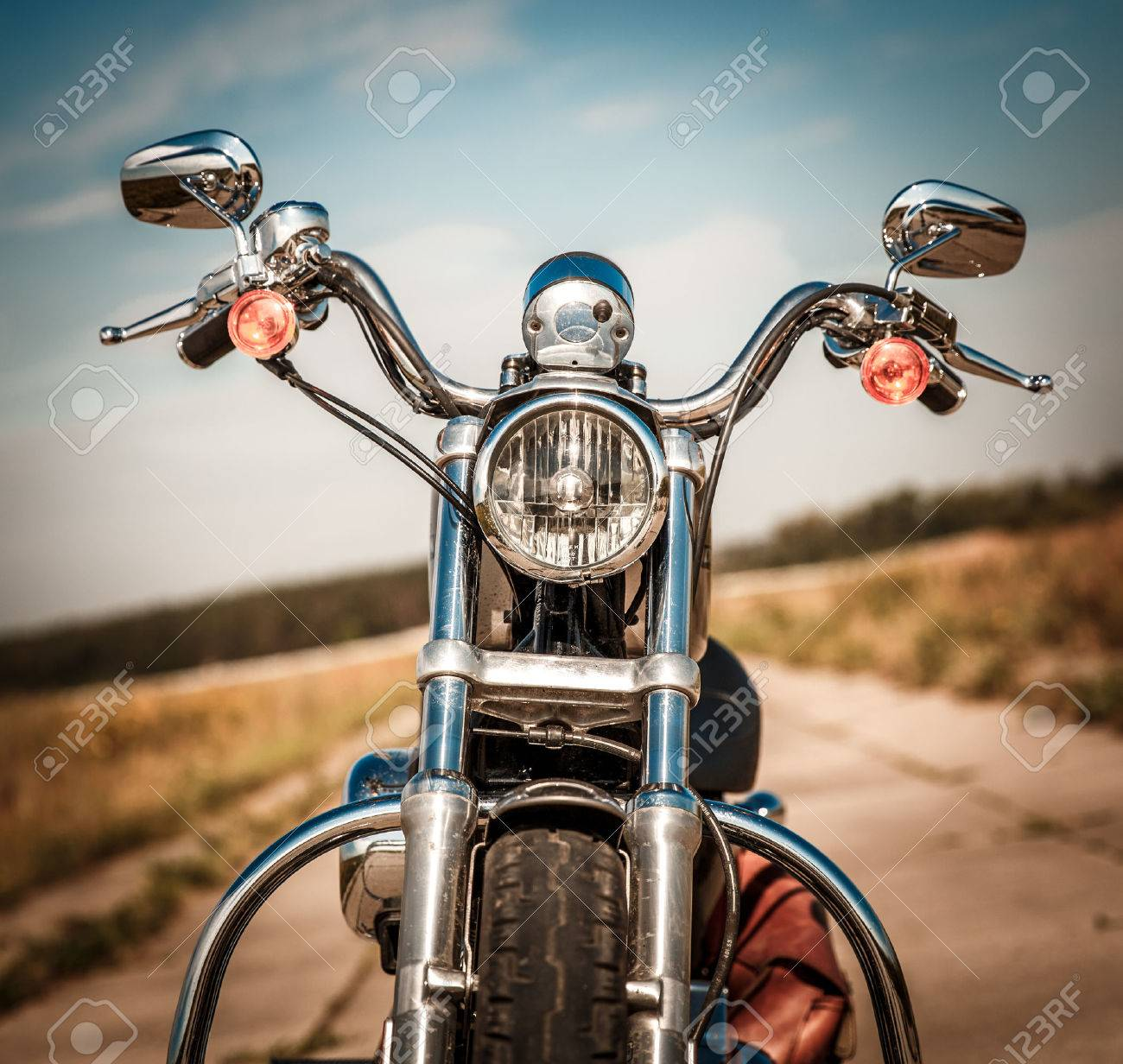 Motorcycle on the road - 51825788