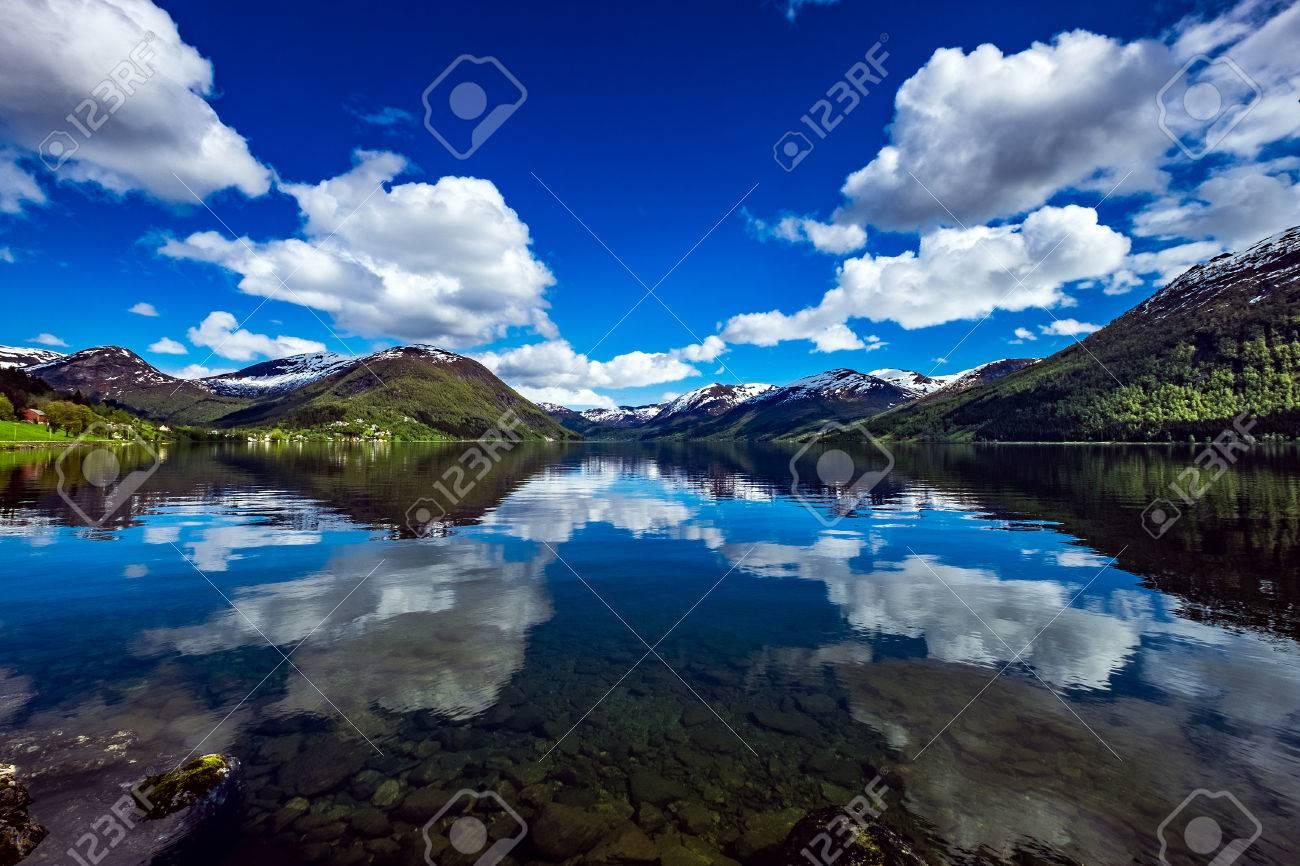 Beautiful Nature Norway natural landscape. - 52157685