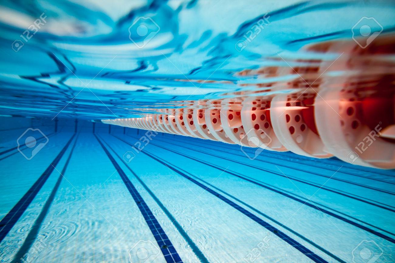 Swimming pool under water background - 51997327