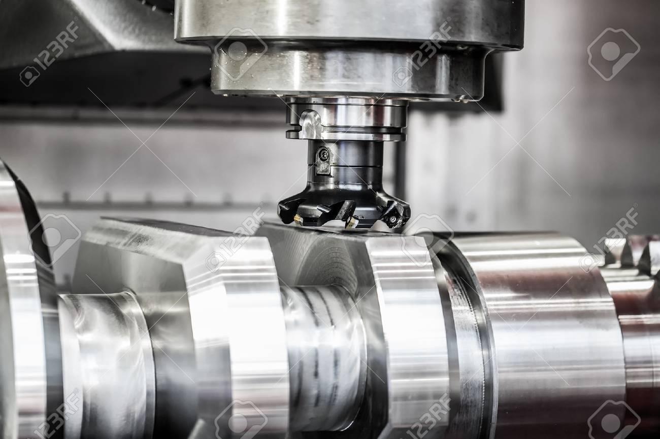 Metalworking CNC milling machine. Cutting metal modern processing technology. - 54766220