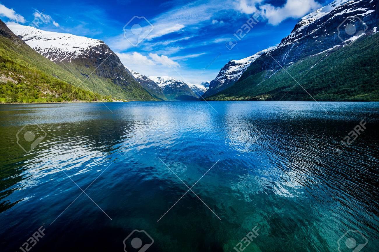Beautiful Nature Norway natural landscape. - 54767672