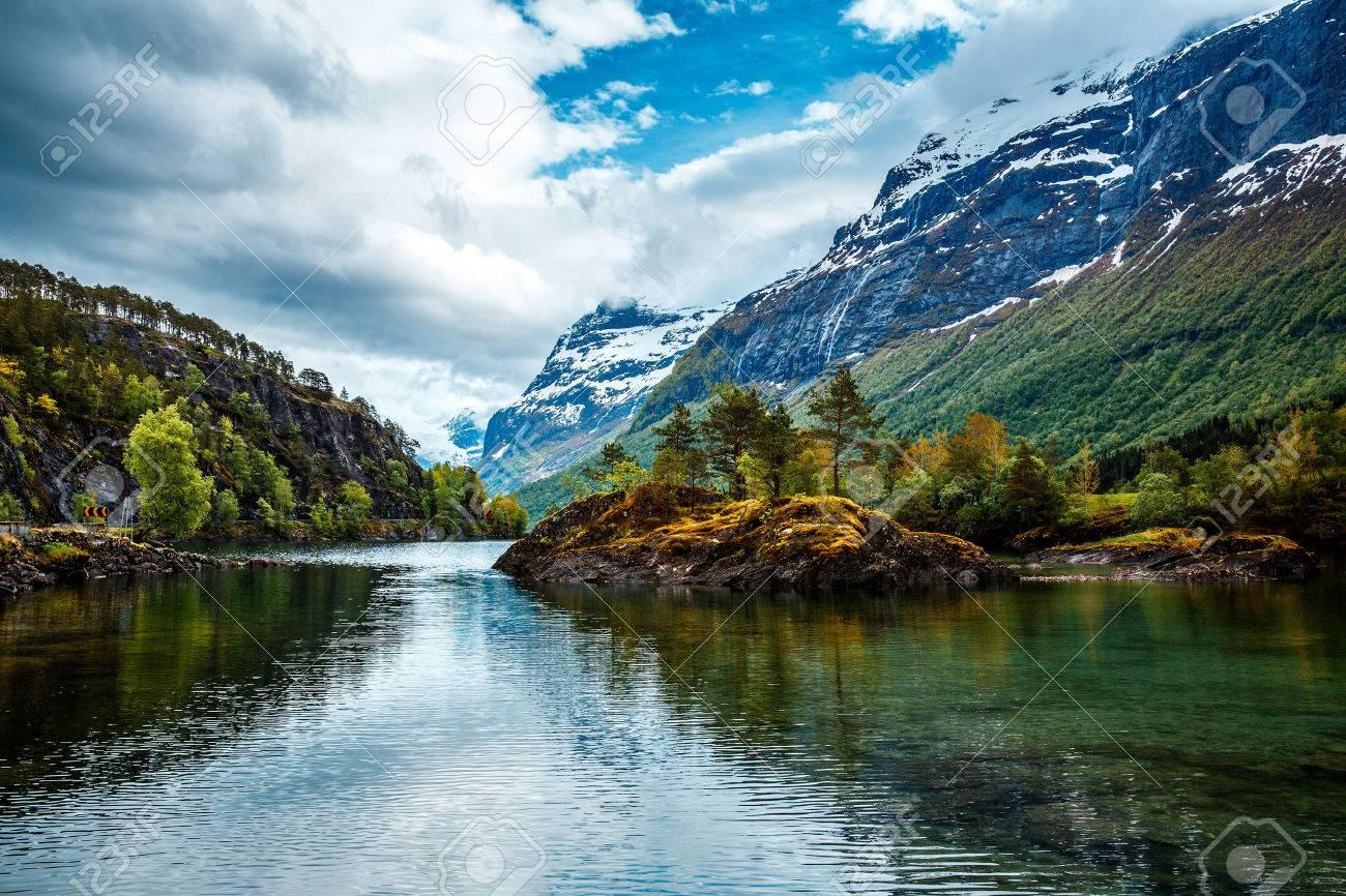 Beautiful Nature Norway natural landscape. - 54767689