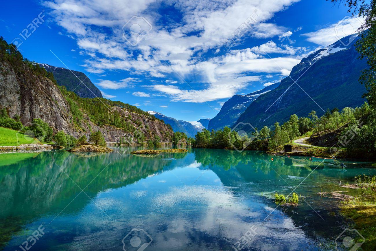 Beautiful Nature Norway natural landscape. - 64786734