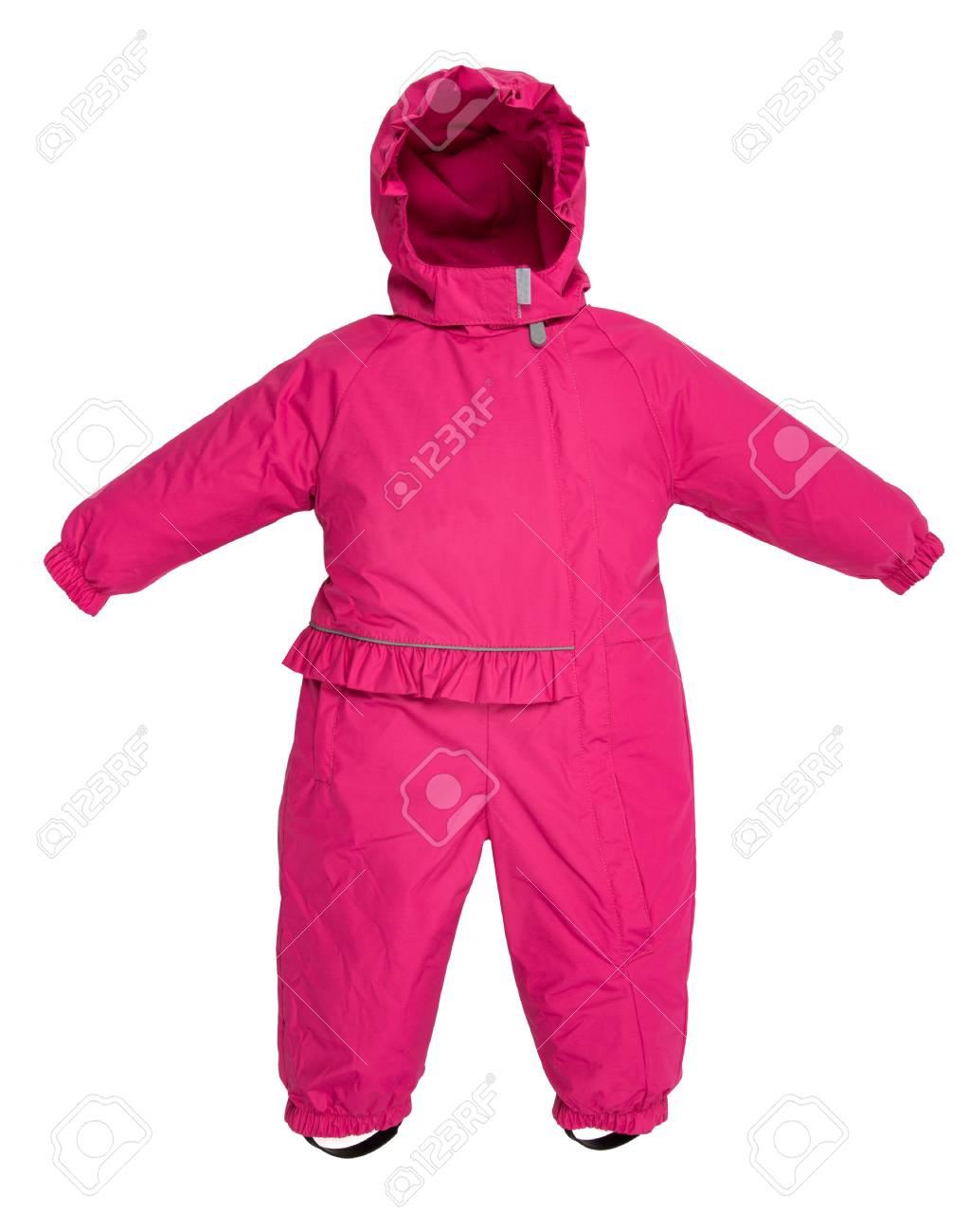 41fc226ba8d883 La tuta da jeans per bambini è caduta su uno sfondo bianco Archivio  Fotografico - 65146808