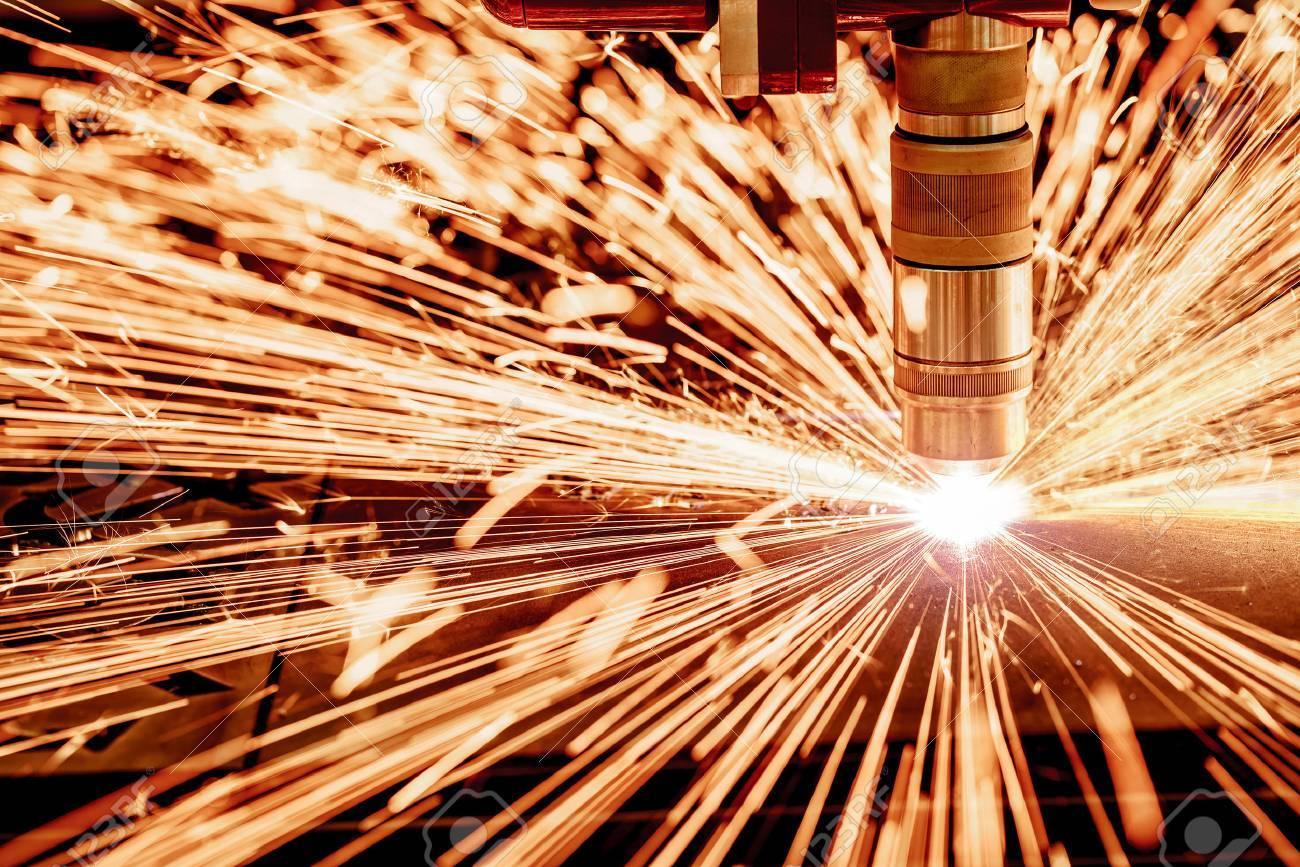 Láser CNC De Corte Por Plasma De Metales, La Tecnología Industrial ...