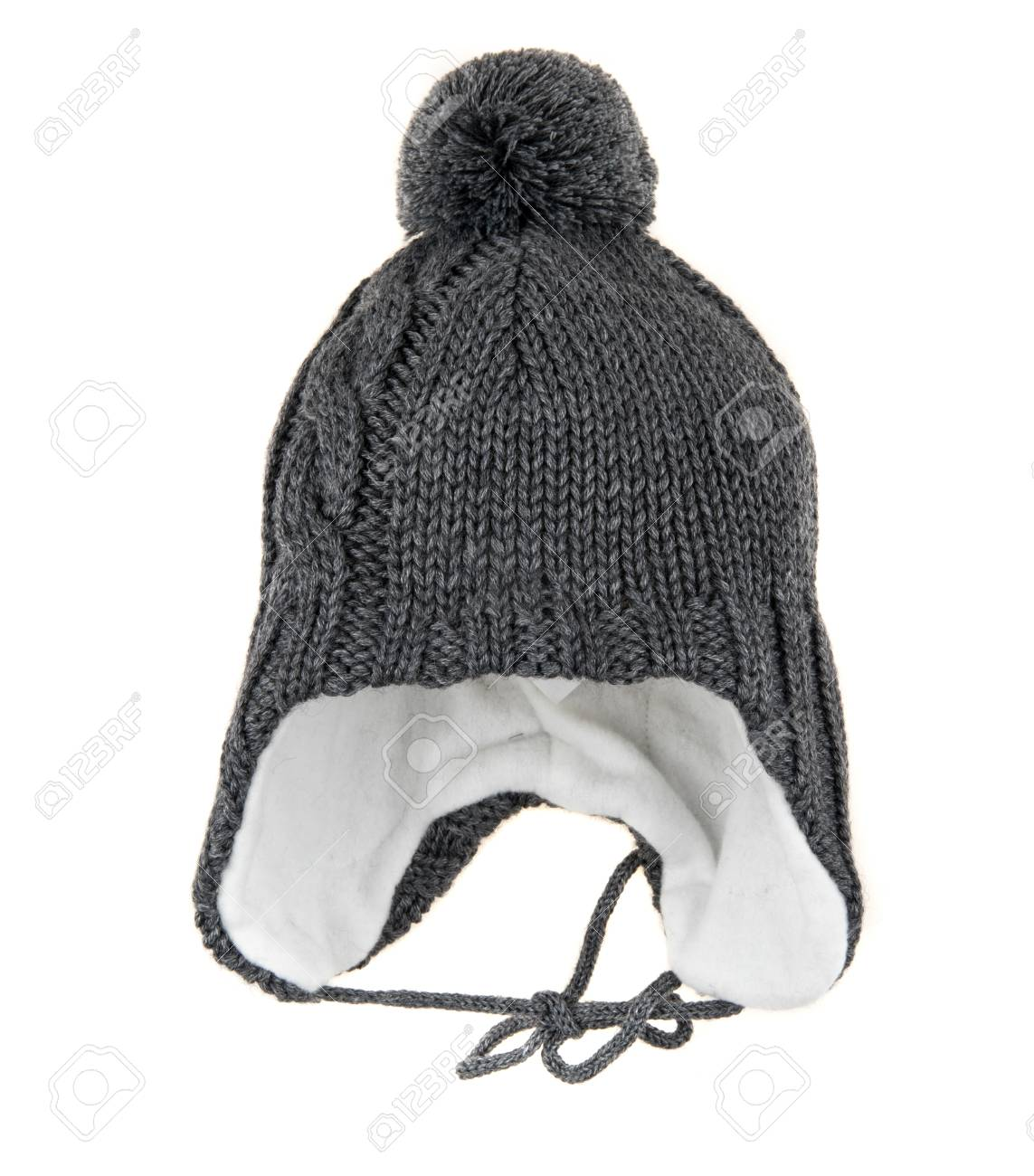 055293b29f3 Children s winter hat isolated on a white background. Stock Photo - 90140625
