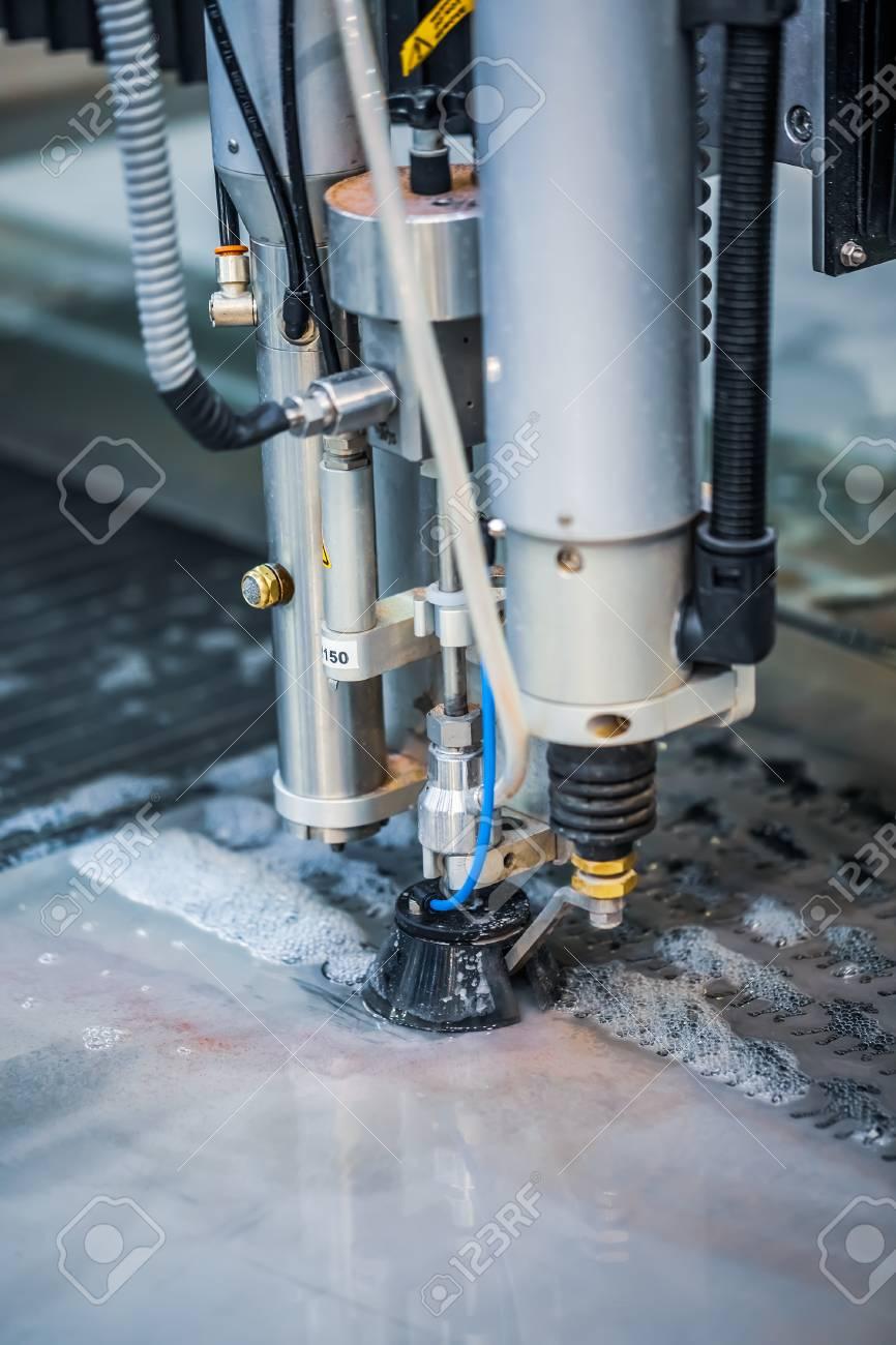 CNC water jet cutting machine modern industrial technology