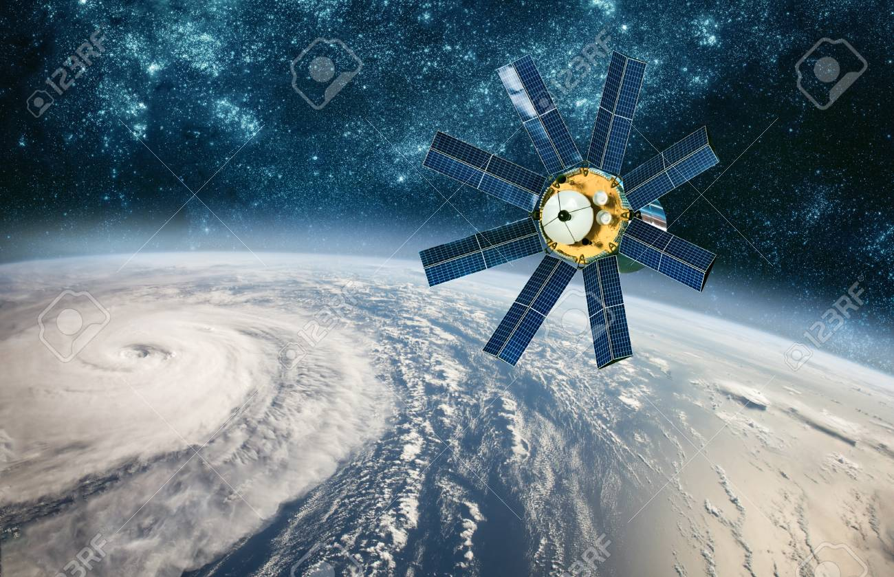 Space satellite monitoring from earth orbit weather from space - 111170271