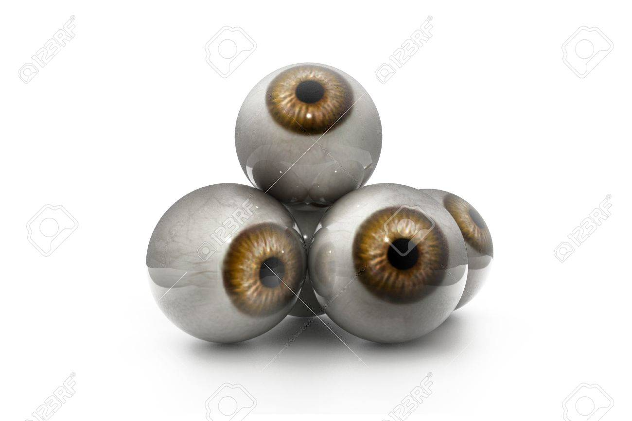 3d illustration of human eye in white background Stock Illustration - 10629194