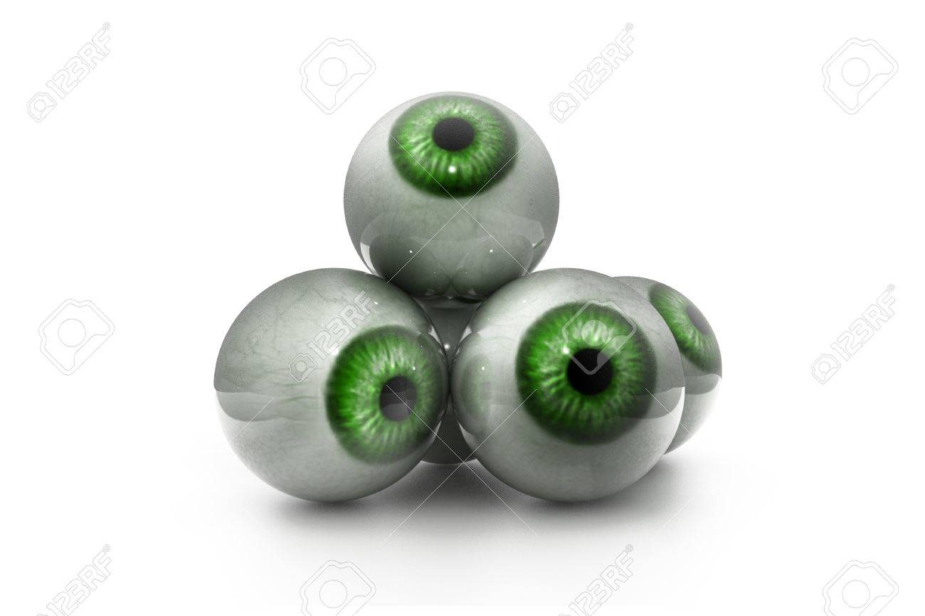 3d illustration of human eye in white background Stock Photo - 10629195
