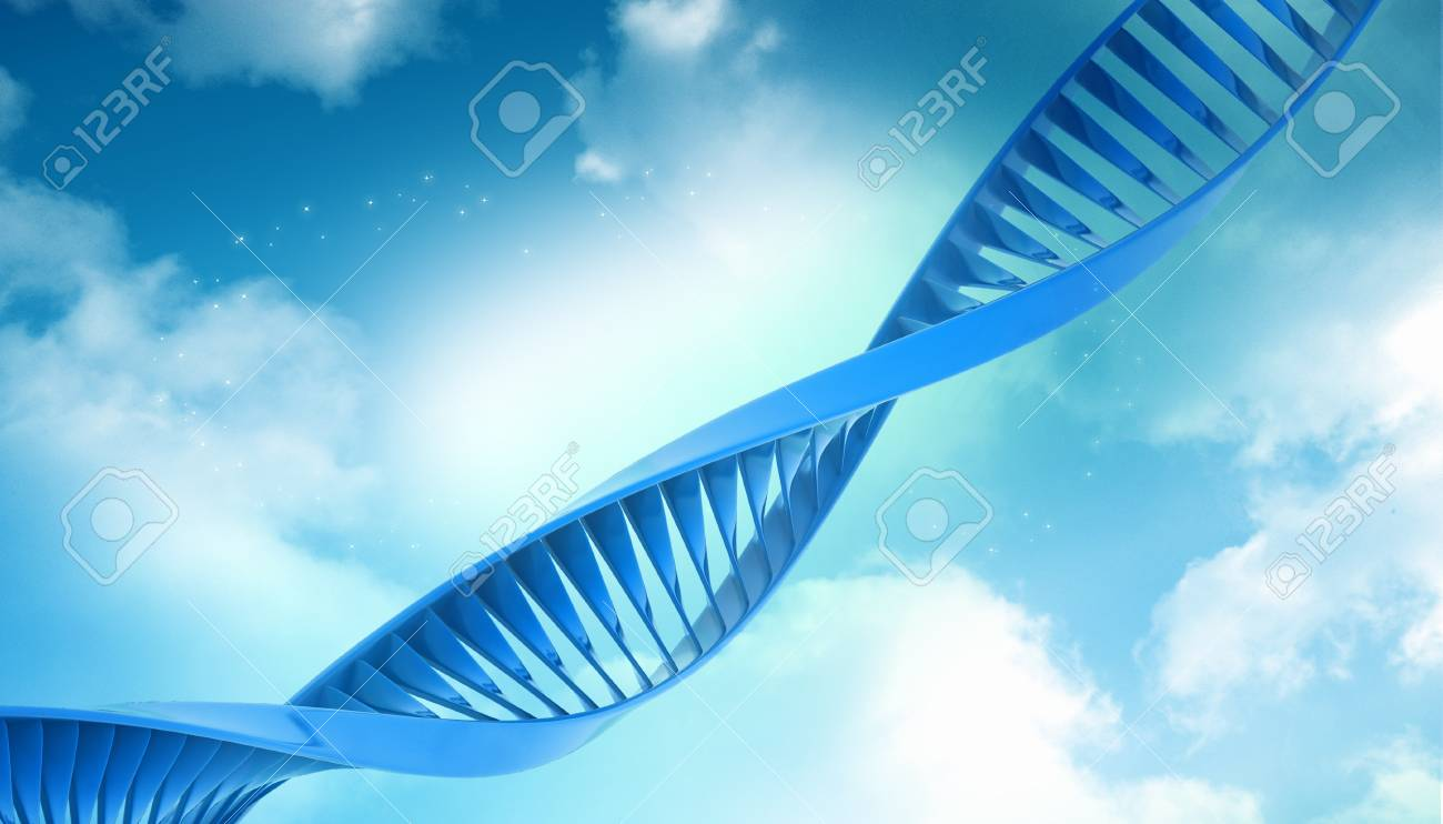 Digital illustration of a dna in abstract background Stock Illustration - 10920069
