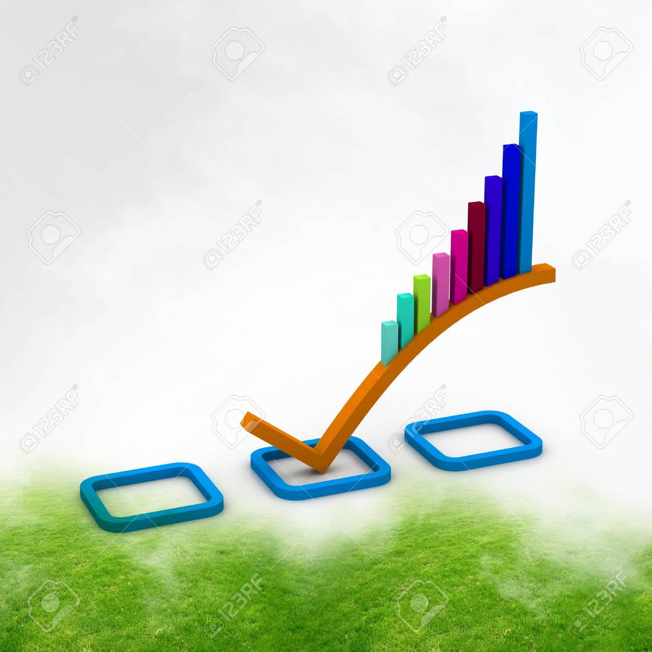3d Business graph Stock Photo - 10994906