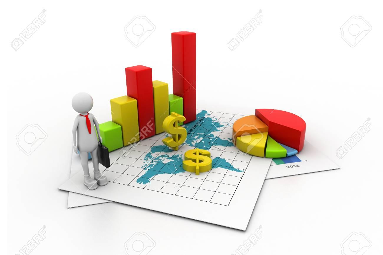 Business graph concept Stock Photo - 11113502