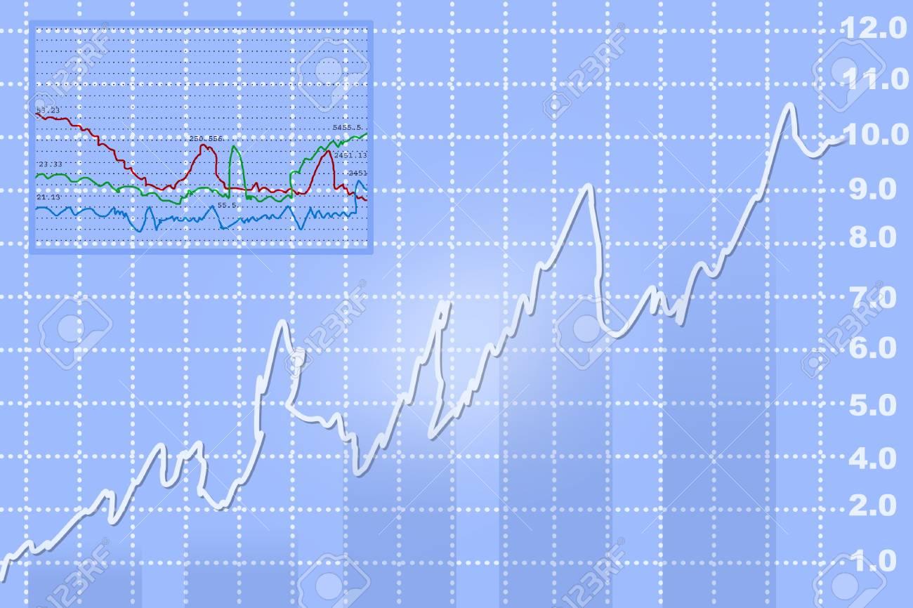 stock exchange graph Stock Photo - 14405550