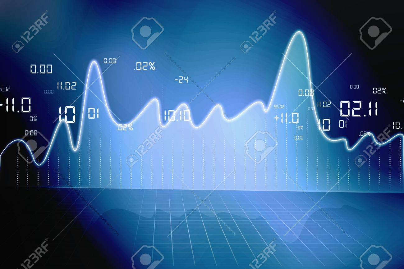 stock market chart Stock Photo - 15187787