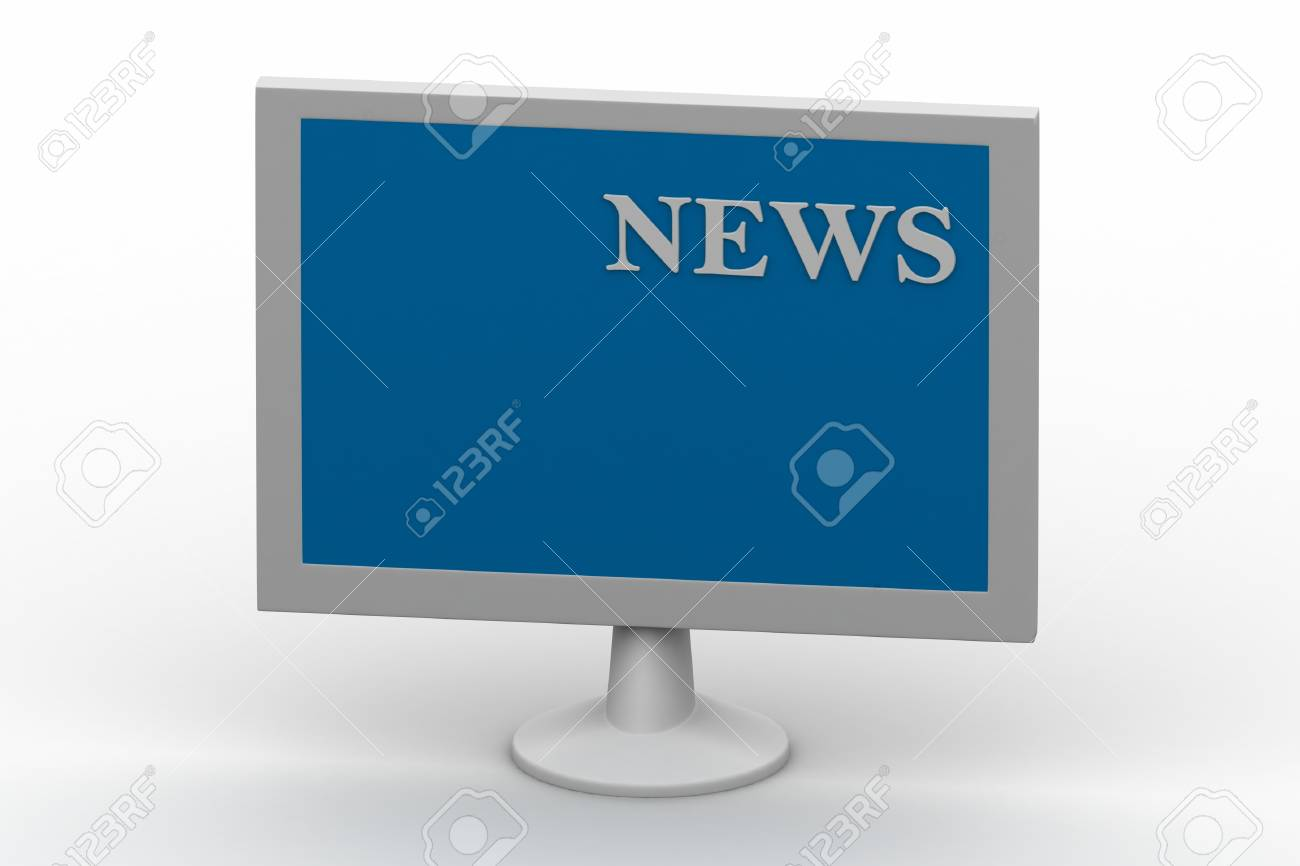 TV showing NEWS on screen Stock Photo - 14914163