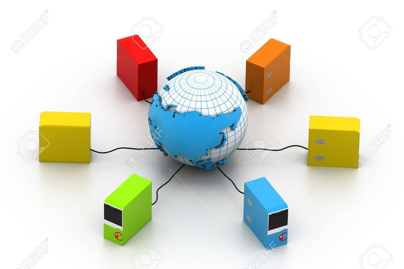 Global computer network Stock Photo - 16982058