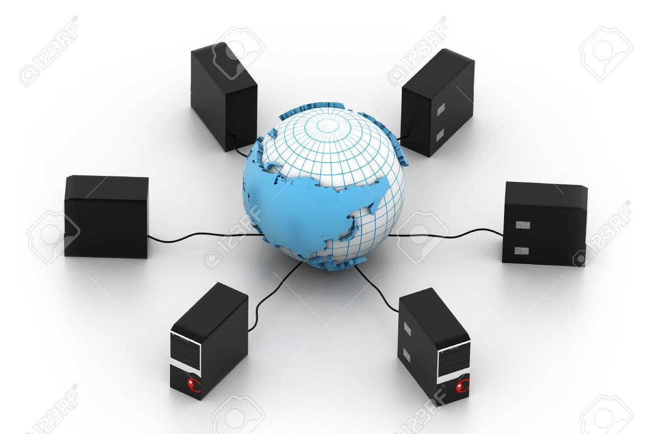 Global computer network Stock Photo - 16982060