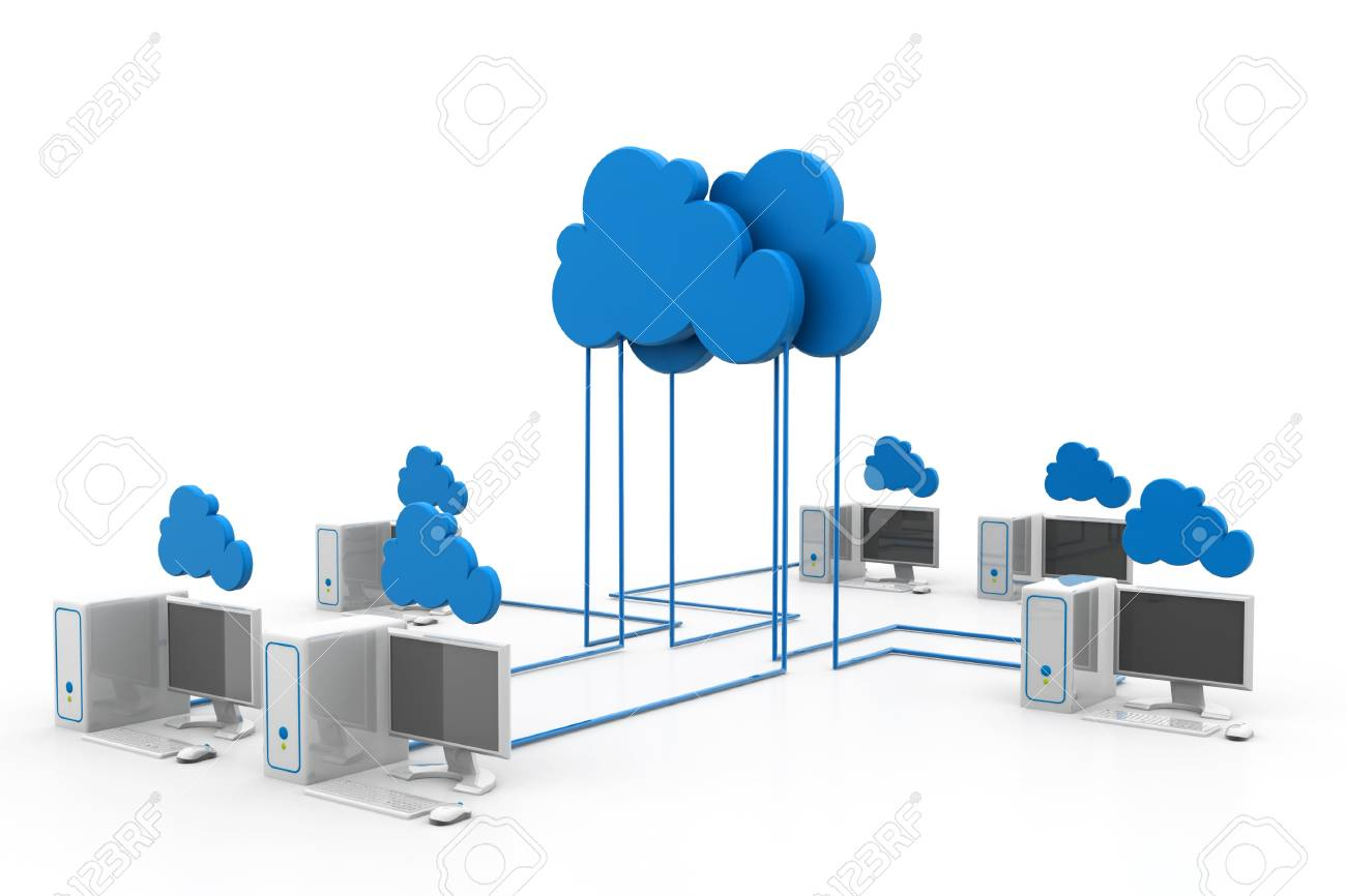 Cloud computing devices Stock Photo - 17033747