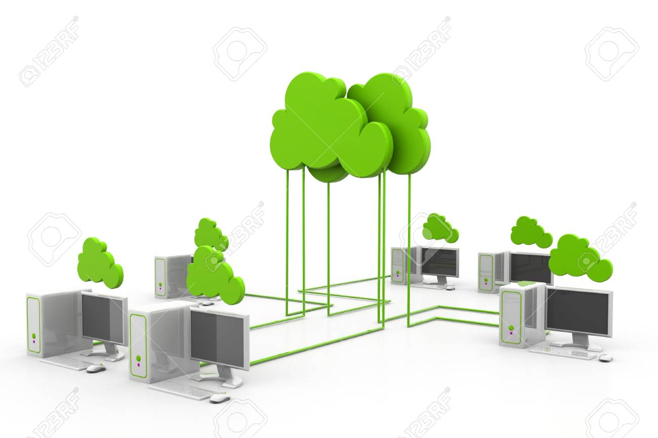 Cloud computing devices Stock Photo - 17033743