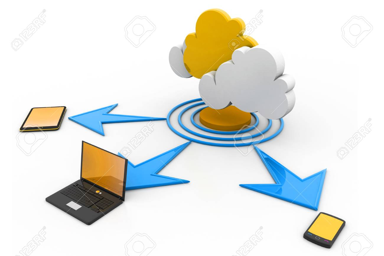 Cloud computing devices Stock Photo - 17033827