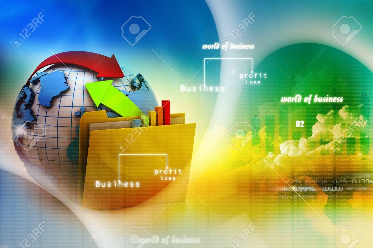 Digital illustration of Online exchange Stock Illustration - 17037747