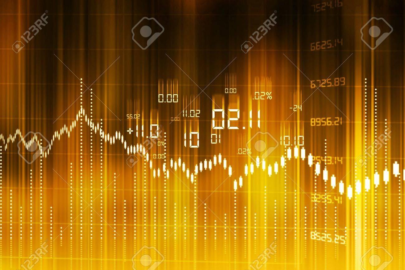 Stock Market Graph and Bar Chart Stock Photo - 18958289