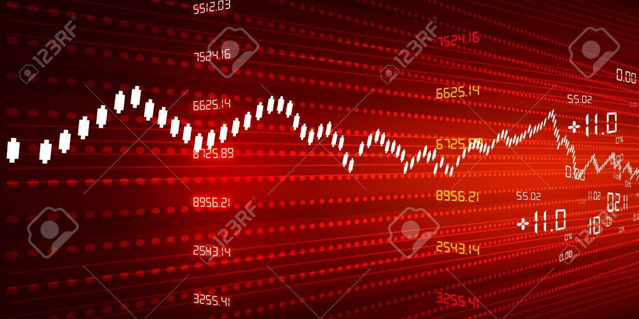 Stock Market Chart Red Background Stock Photo, Picture And Royalty Free  Image. Image 20884544.