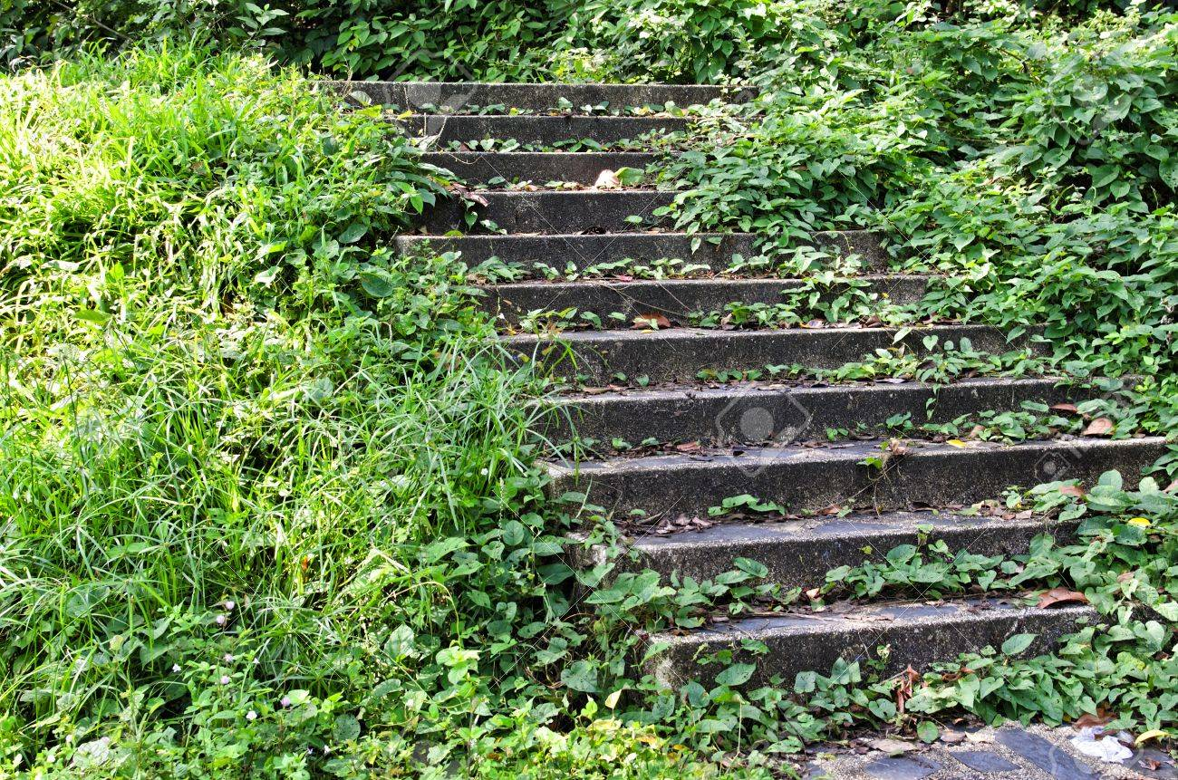 Rock stairway going up to Tang Kuan Hill songkhla thailand Stock Photo - 17696936