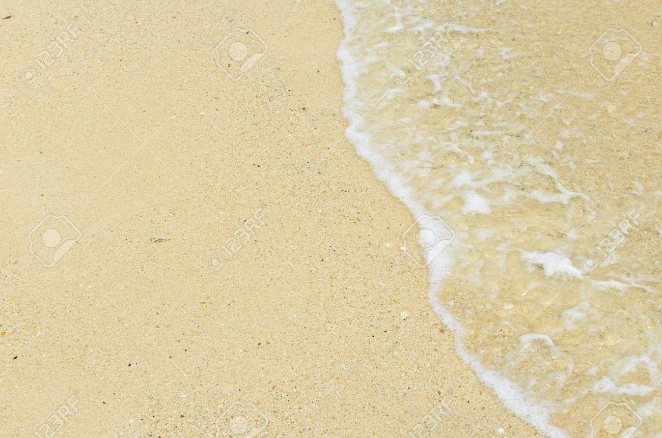 Sand beach and wave Stock Photo - 17657032