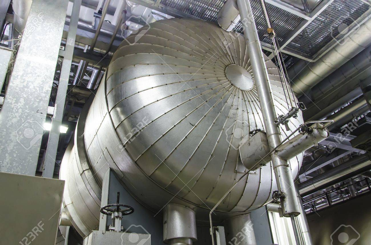 Steam Boiler For Power Plant Stock Photo, Picture And Royalty Free ...