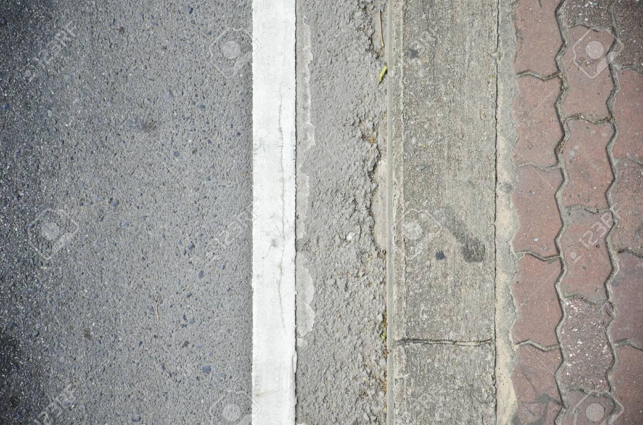 asphalt road and sidewalk Stock Photo - 19575351