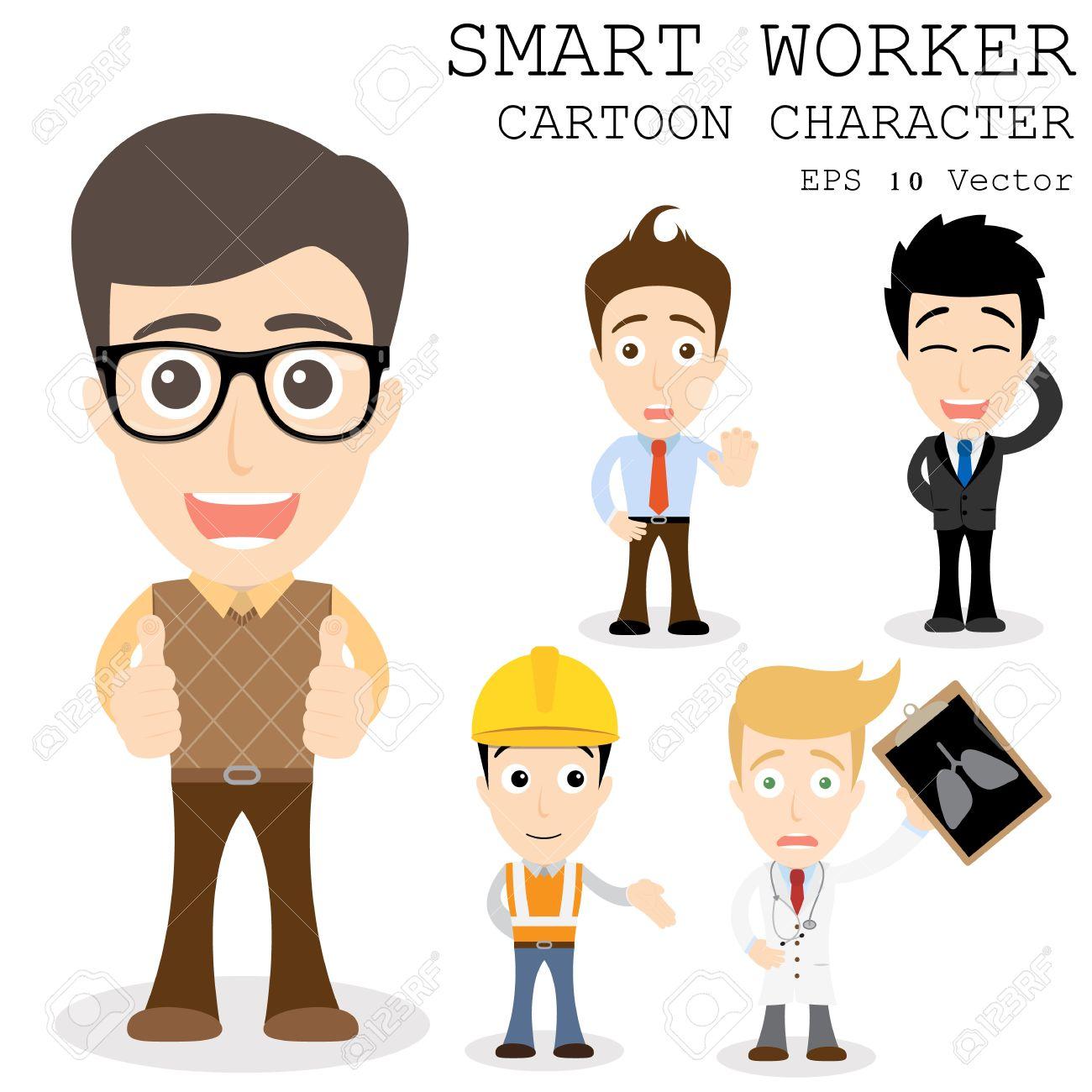 smart worker cartoon character royalty cliparts vectors and smart worker cartoon character stock vector 27902044