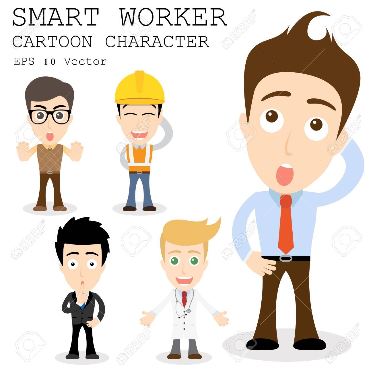 smart worker cartoon character royalty cliparts vectors and smart worker cartoon character stock vector 27902050