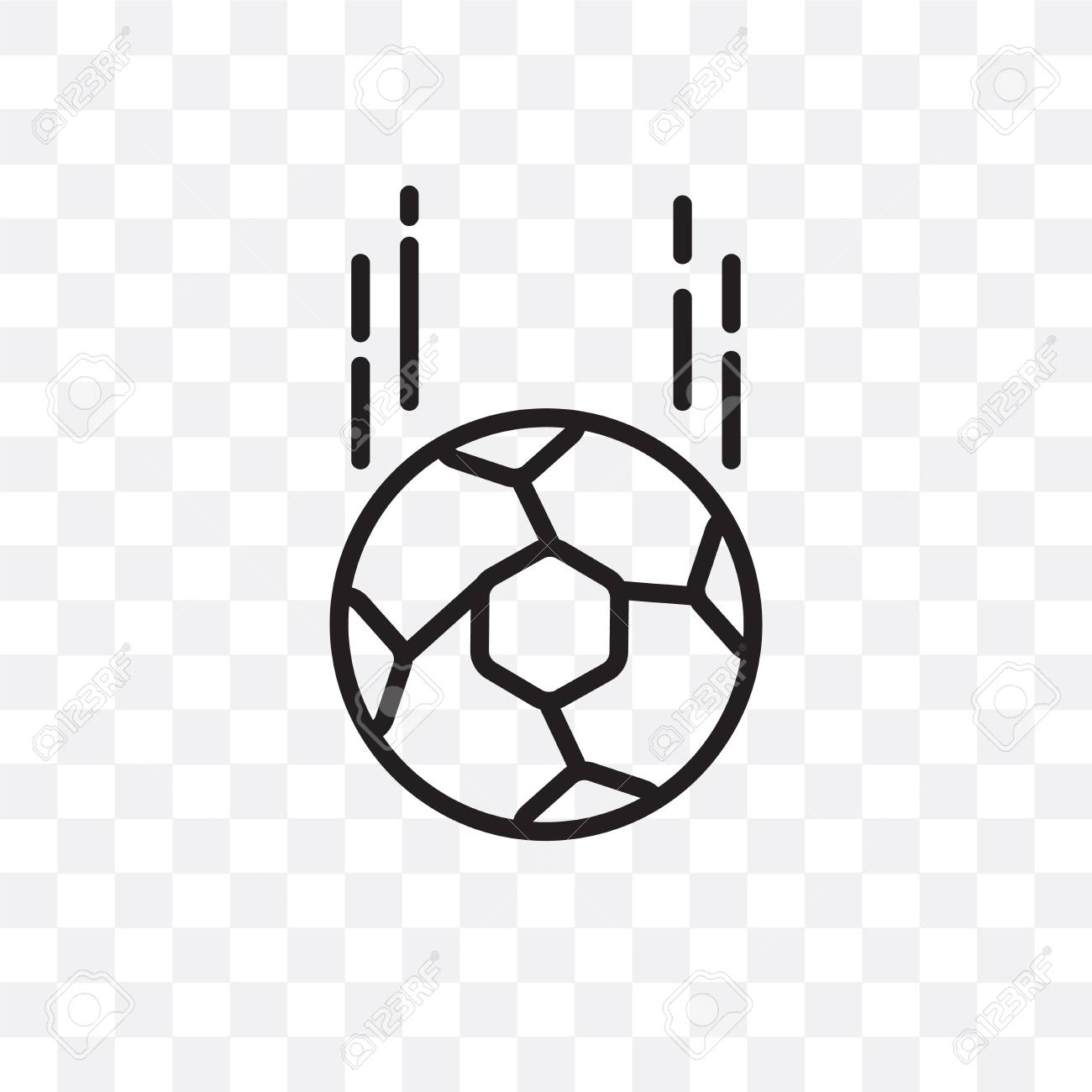 Soccer Ball Vector Icon Isolated On Transparent Background Soccer Royalty Free Cliparts Vectors And Stock Illustration Image 107269904