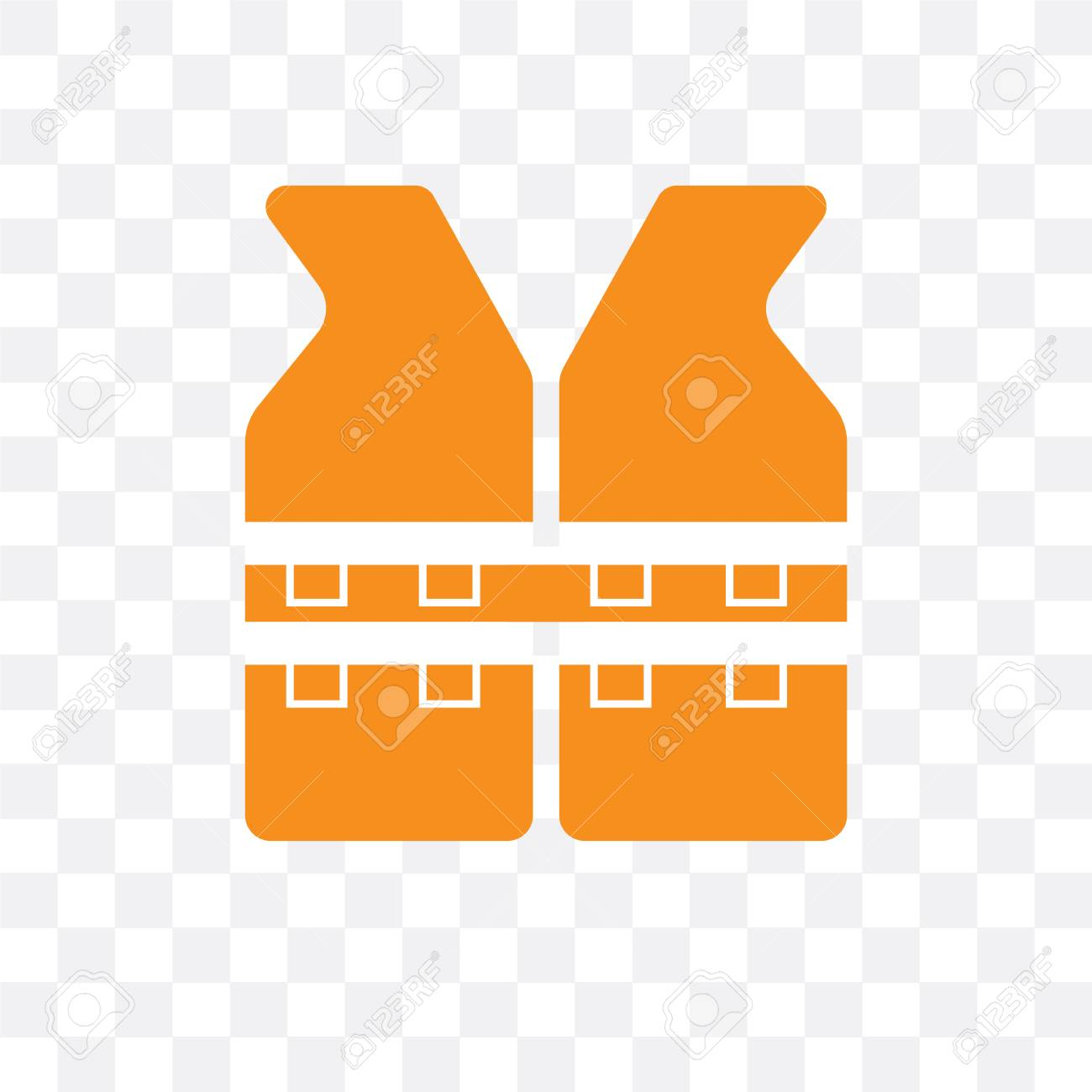 Life Jacket Vector Icon Isolated On Transparent Background Life Royalty Free Cliparts Vectors And Stock Illustration Image 107275784