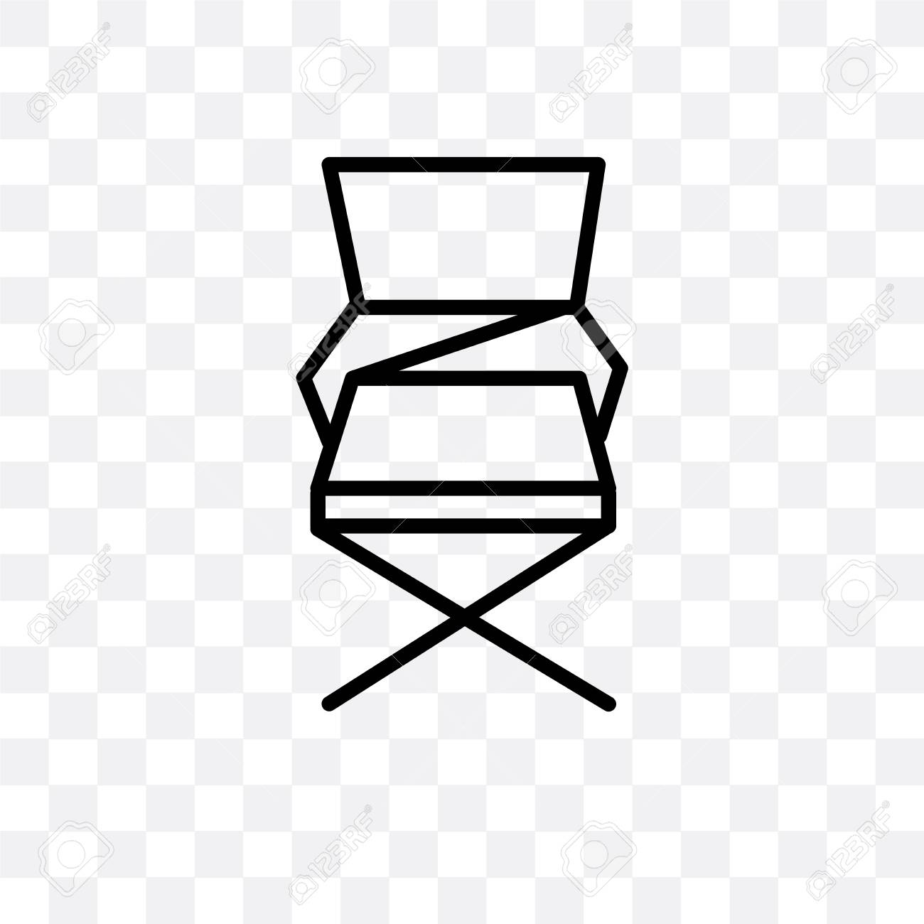 Strange Folding Chair Vector Icon Isolated On Transparent Background Ncnpc Chair Design For Home Ncnpcorg