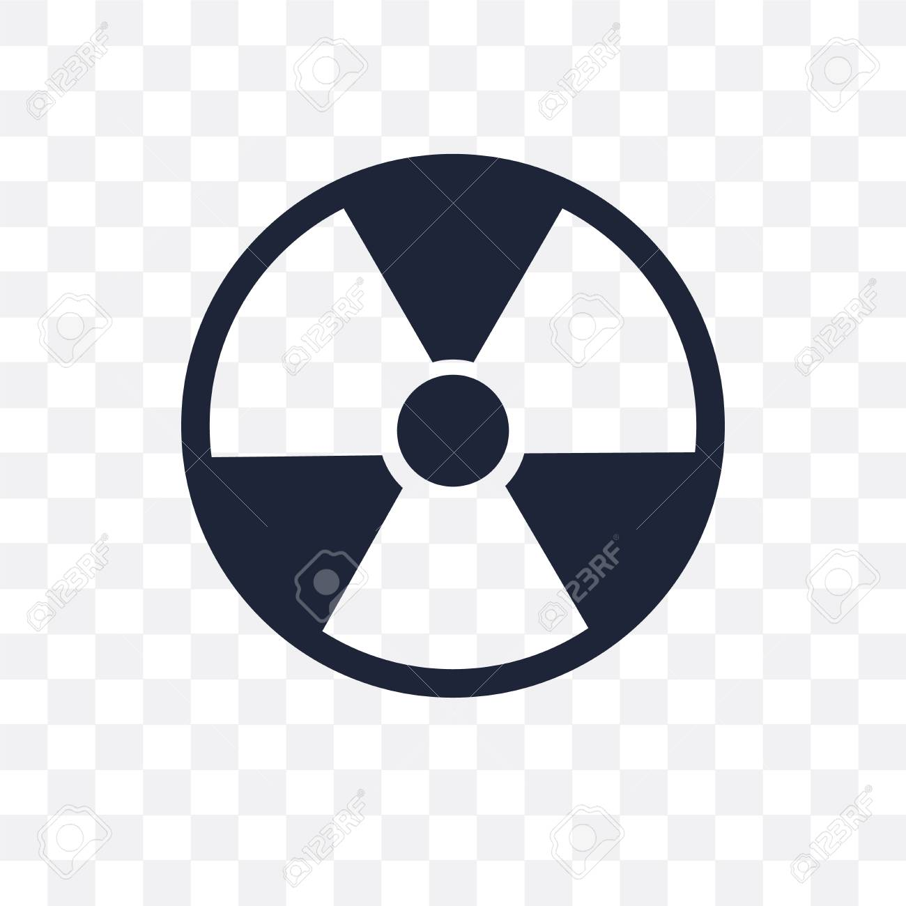Nuclear transparent icon  Nuclear symbol design from Army collection